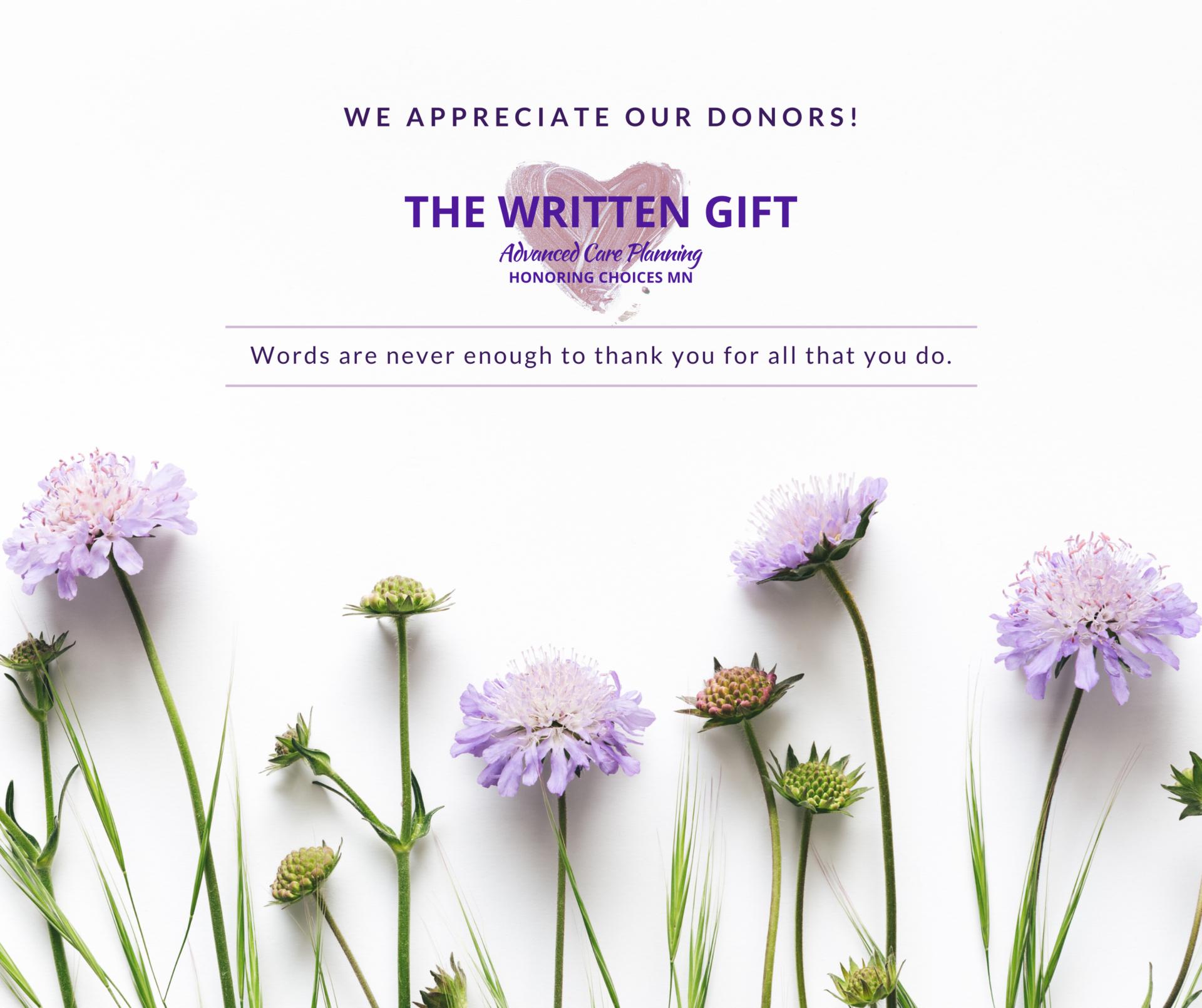 Donor Appreciation 2021
